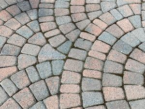 Old Dominion pavers with circular pattern