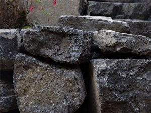 Natural stone steps creating a scenic stairway