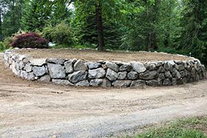 Circular rockery wall