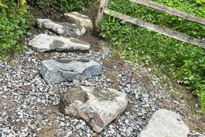 Natural flat rockery rock steps