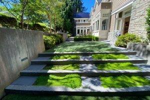 Beautiful concrete steps with eco-conscience design