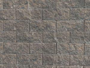 Summit blend cornerstone block wall